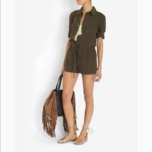 Sexy 100% French linen Enza Costa Intermix romper